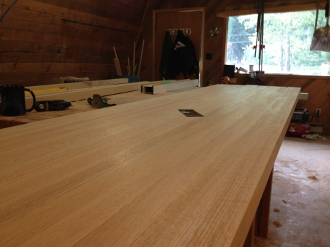 Solid oak countertop - construction