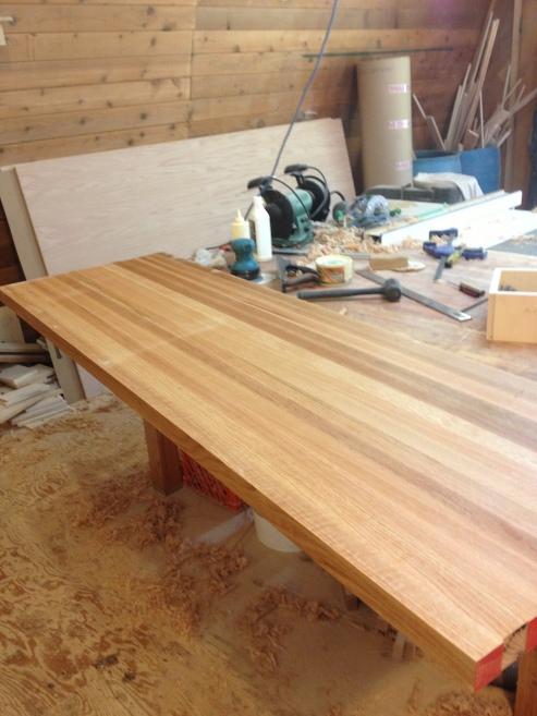 Solid oak countertop - construction