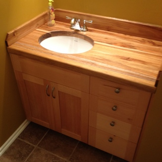 Vanity - Fir w/ Teak Counter