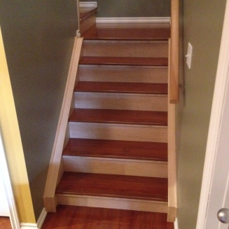 Stairs - Laminate treads, maple risers & caps