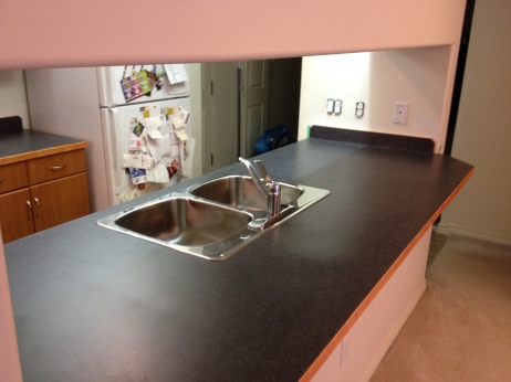 Island Counter Installed