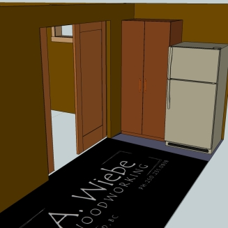 Pocket door / pantry concept