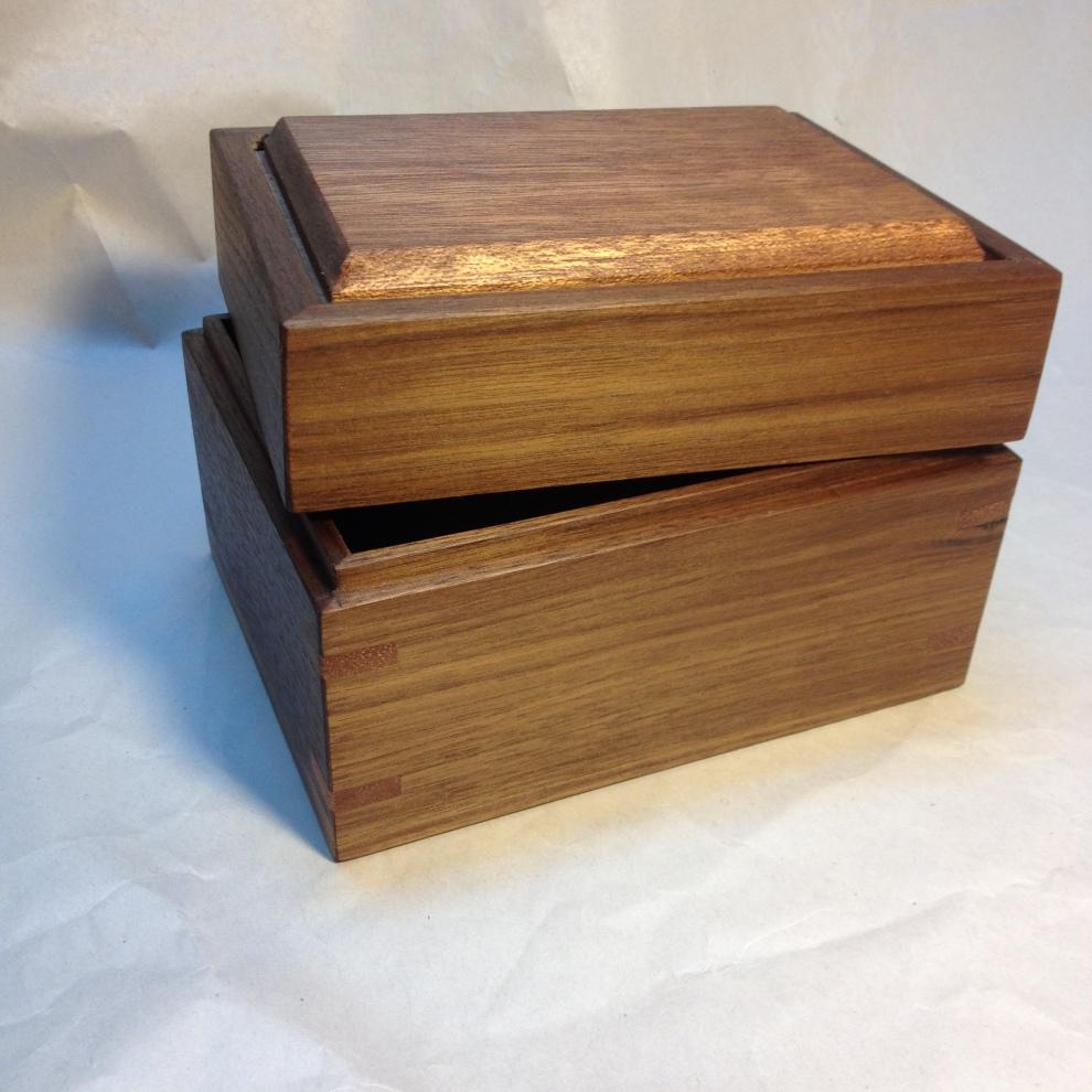 Teak and Walnut Treasure Box