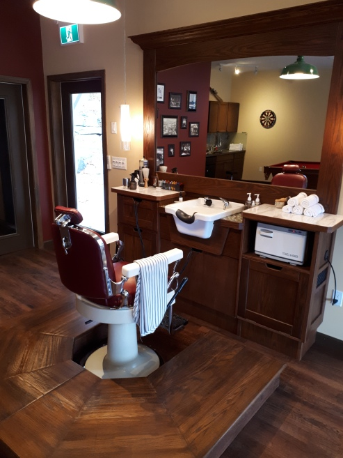 Custom Barber Station